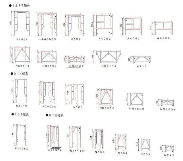 门式脚手架SKP模型